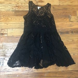 Etolie Anthropologie black lace dress